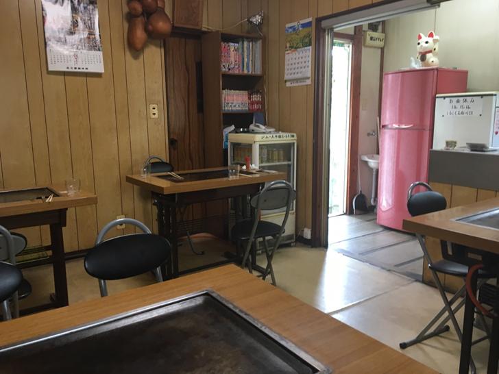三津浜焼き木下店内