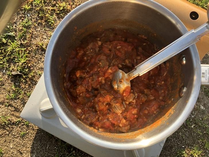 鹿のトマトソース煮