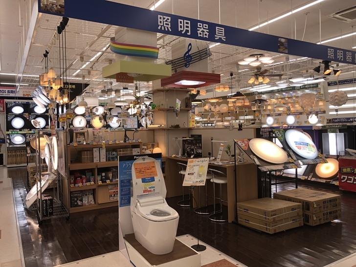 エディオン松山本店照明1