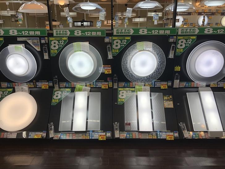 エディオン松山本店照明2