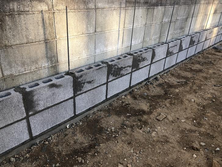 ブロック塀工事1